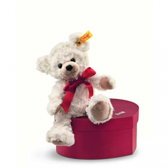 Steiff 109904 Teddybär Sweetheart in Herzbox, 22cm, Plüsch, creme