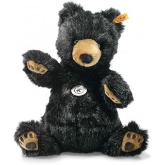 Steiff 113291 Grizzly Bär, Plüsch, 27 cm, schwarz