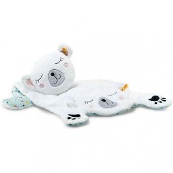 Steiff 240355 Soft Cuddly Friends Iggy Eisbär Spielmatte, Plüsch, 90 cm, weiß/bunt