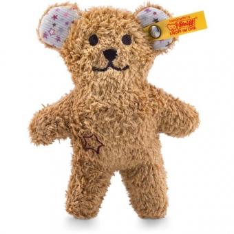 Steiff 240669 Mini Knister-Teddybär mit Rassel, Plüsch, 11 cm, braun