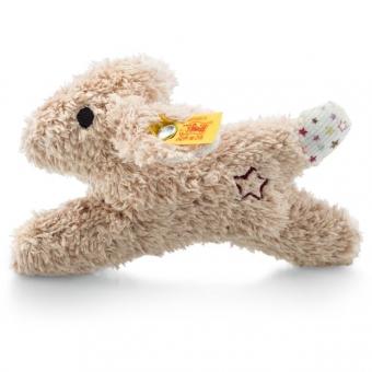 Steiff 240683 Mini Knister-Hase mit Rassel, Plüsch, 11 cm, beige