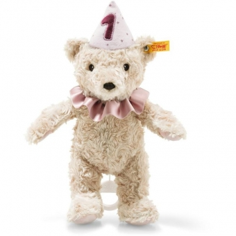 Steiff 240874 1. Geburtstag Teddybär Mädchen Spieluhr, Plüsch, 26 cm, hellblond