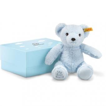 Steiff 241369 My first Steiff Teddybär in Geschenkbox, Plüsch, 24 cm, hellblau