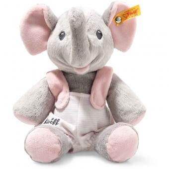 Steiff 241666 Trampili Elefant, Plüsch, 24 cm, grau/rosa