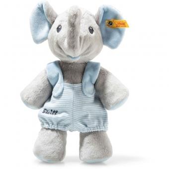 Steiff 241673 Trampili Elefant, Plüsch, 24 cm, grau/blau