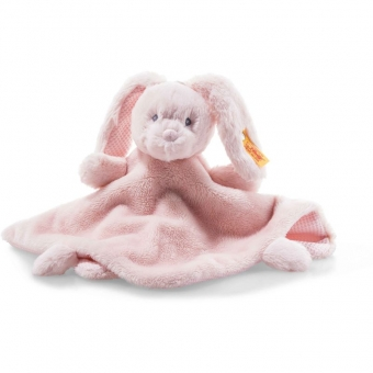 Steiff 241901 Soft Cuddly Friends Belly Hase Schmusetuch, Plüsch, 26 cm, rosa