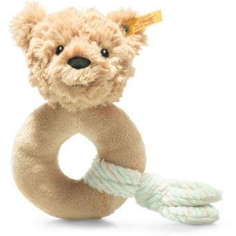 Steiff 242298 Teddybär Jimmy Greifling, Plüsch, 14 cm, beige