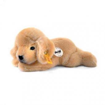 Steiff 280160 Steiffs kleiner Freund Golden Retriever-Welpe Lumpi, 22 cm, blond liegend