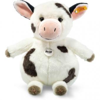 Steiff 283031 Happy Farm Cowaloo Kuh, Plüsch, 35 cm, weiß/schwarz gefleckt