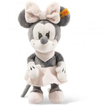 Steiff 290053 Minnie Mouse mit Quietsche und Knisterfolie, Plüsch, 23 cm, grau/rosa/weiß