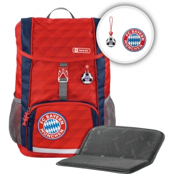 Step by Step KID FC Bayern Rucksack-Set, 3-teilig, Mia san Mia