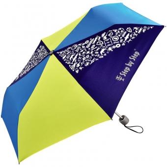 Step by Step Regenschirm Blue & Yellow, Magic Rain-Effekt,