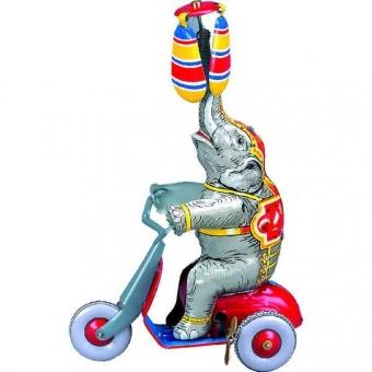 Wilesco Elefant mit Motorroller