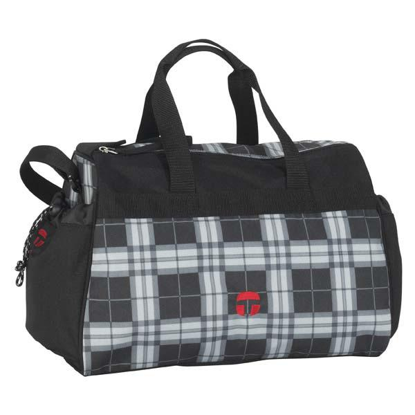TAKE IT EASY Sporttasche PLAID schwarz/grau