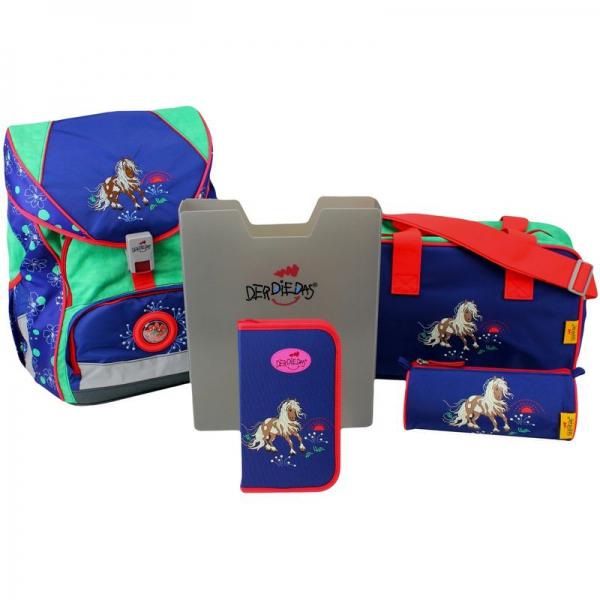 DerDieDas Schulranzen Set Ergoflex XL Happy Pony 5-tlg. + gratis Tuschkasten