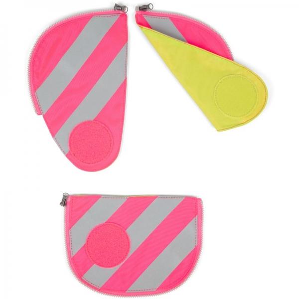 Ergobag pack Sicherheitsset mit Reflektorstreifen (3-tlg.), Pink, Farbe/Muster: Pink