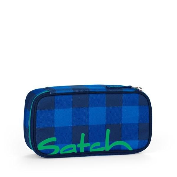 Satch Schlamperbox Bluetwist, Blau Grau kariert
