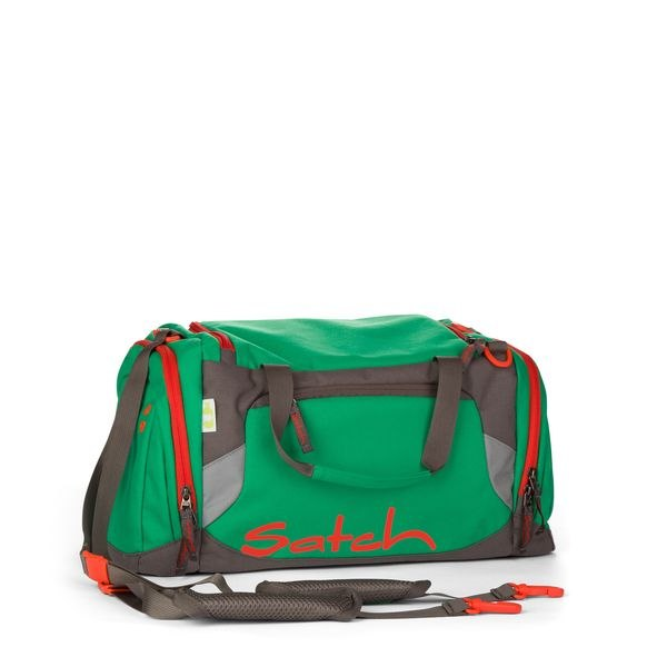 Satch Sporttasche Green Steel, Grün Rot