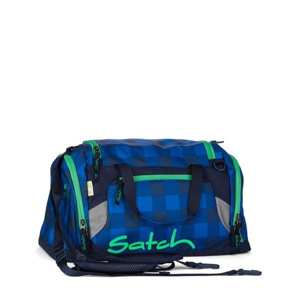 Satch Sporttasche Bluetwist, Blau Grau kariert