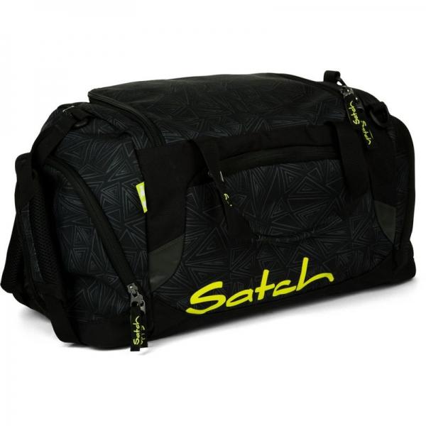 Satch Sporttasche, Black Bermuda, Schwarze Dreiecklinien