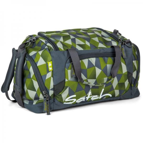 Satch Sporttasche, Green Crush, Grün Polygon