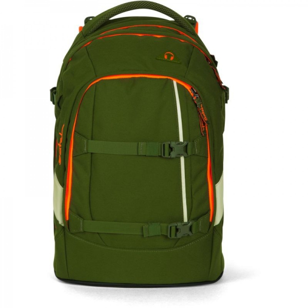 Satch Schulrucksack, Green Phantom, Grün Orange