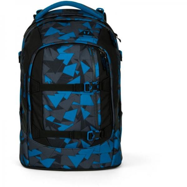 Satch Schulrucksack, Blue Triangle, Dreiecke Blau