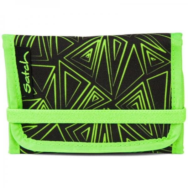 Satch Geldbeutel, Green Bermuda, Grüne Dreiecklinien