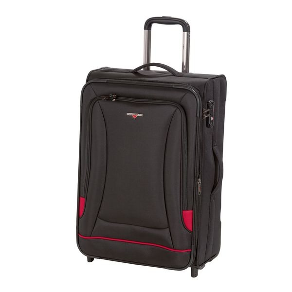 HARDWARE O-Zone Trolley L, 2 Rollen, Farbe: Black/Red
