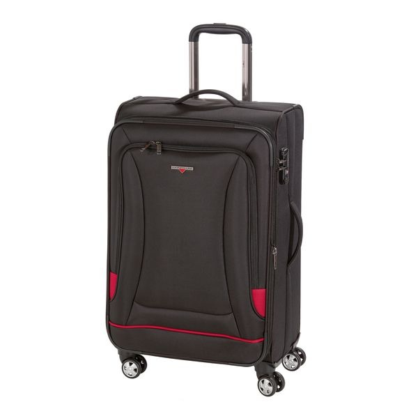 HARDWARE O-Zone Trolley M, 4 Rollen, Farbe: Black/Red
