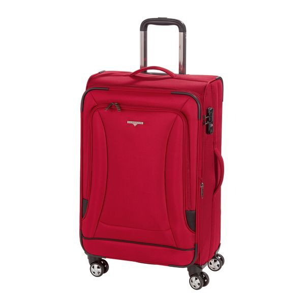 HARDWARE O-Zone Trolley M, 4 Rollen, Farbe: Red/Black