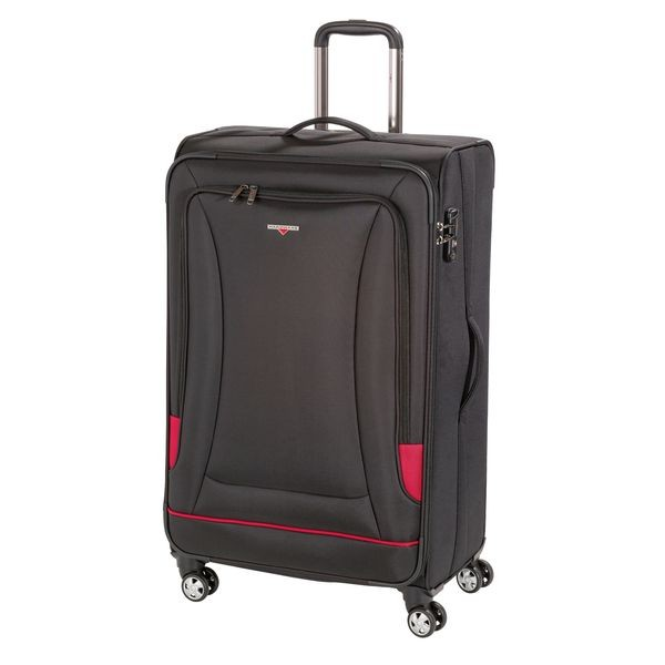 HARDWARE O-Zone Trolley L, 4 Rollen, Farbe: Black/Red
