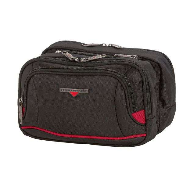 HARDWARE O-Zone Double Travel Kit, Farbe: Black/Red