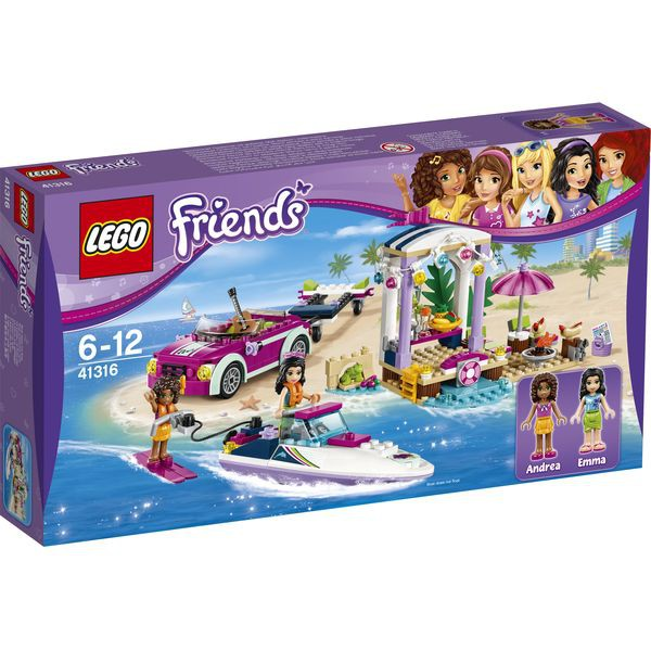 LEGO® Friends 41316 - Andreas Rennboot-Transporter