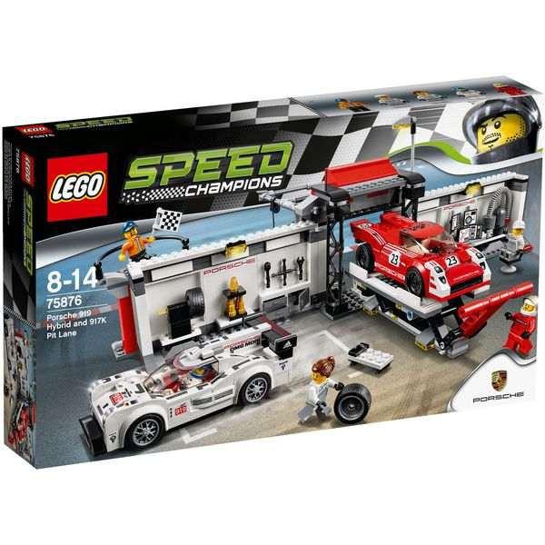 LEGO Speed Champions 75876 - Porsche 919 Hybrid and 917K Pit Lane