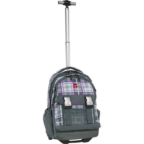 TAKE IT EASY Rucksack Trolley Madrid KILT grau/lila + gratis Tuschkasten
