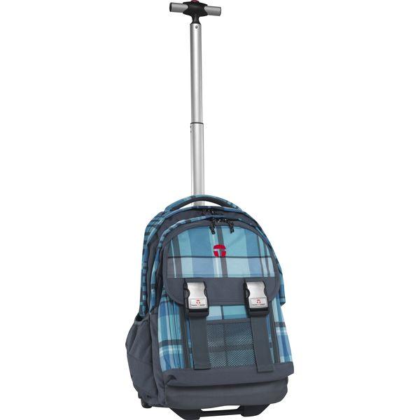 TAKE IT EASY Rucksack Trolley Madrid ATLANTIC blau/grau + gratis Tuschkasten