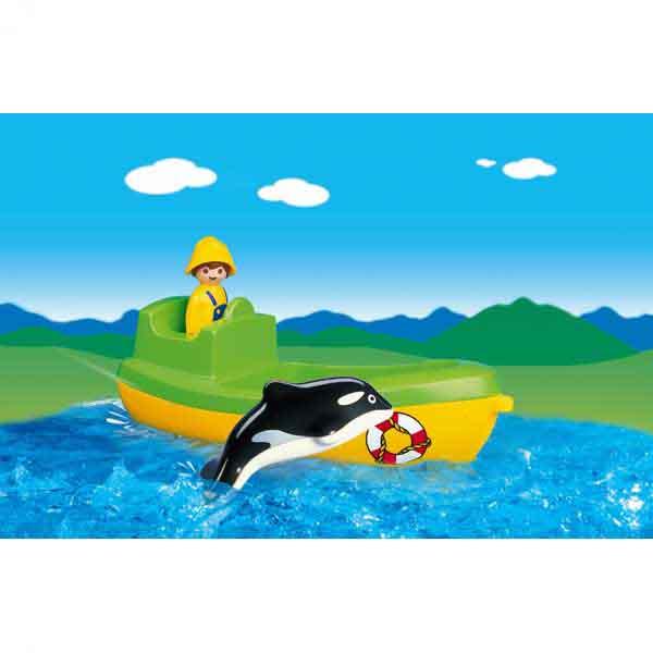 Playmobil ® Fischerboot mit Wal