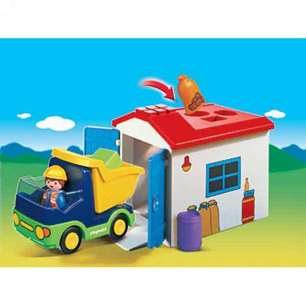 Playmobil ® LKW mit Sortiergarage
