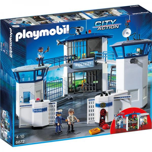 Playmobil ®Polizei-Kommandozentrale mit Gefängnis und Fingerabdruckerfassung.