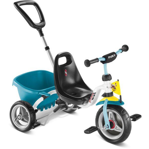 Puky 2227 CAT 1 S Dreirad Kipper, Farbe: weiß