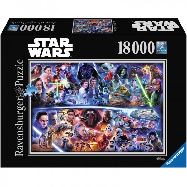 Ravensburger Puzzle 178278 Star Wars Galaktische Zeitreise, 18000 Teile