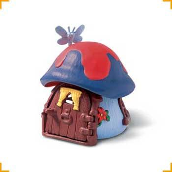 Schleich Schlumpfhaus klein, blau