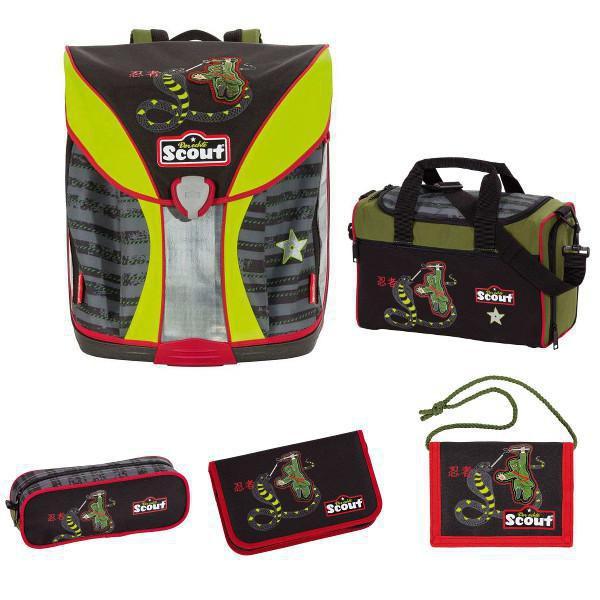 SCOUT Basic Nano Schulranzen Set 5tlg. Ninja Snake + gratis Schulbox im Wert von 25 €