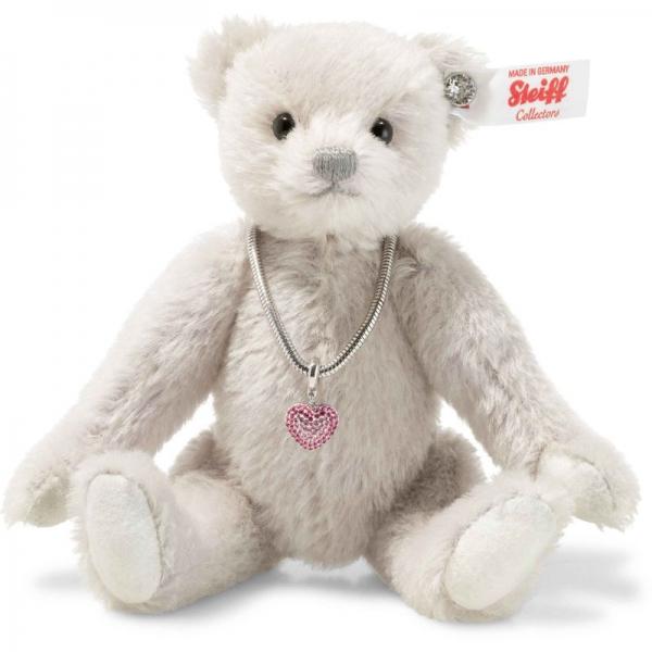Steiff 006494 Love Teddybär, Mohair, 18 cm, flieder/grau