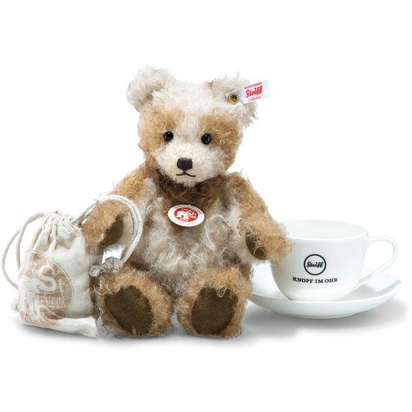 Steiff 006524 Benotime Teddybär, Mohair, 25 cm, creme/braun