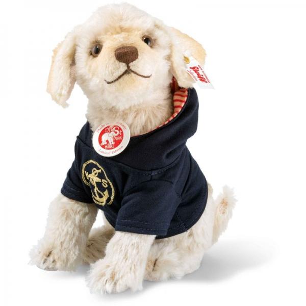 Steiff 006548 Nautical Nicky Hund, Mohair, 20 cm, creme
