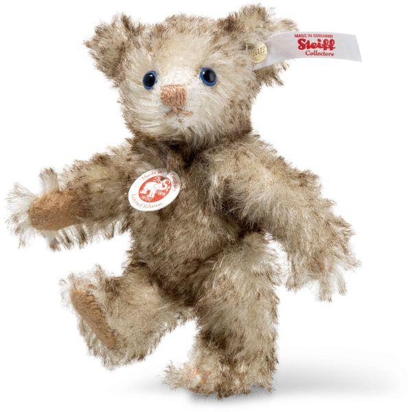 Steiff 006685 Petsy Mini Teddybär, Mohair, 10 cm, braun gespitzt