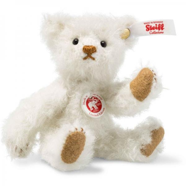 Steiff 006692 Mini Teddybär 1906, Mohair, 10 cm, weiß