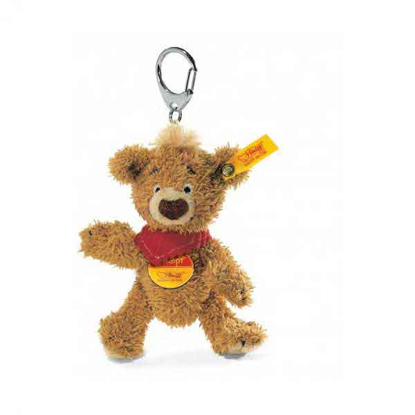 Steiff 014475 KNOPF Teddybär Schlüsselanhänger, 11 cm